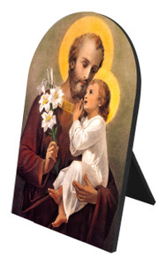 St. Joseph (Younger) Arched Desk Plaque