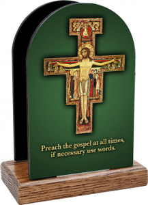 Preach the Gospel Cross Table Organizer (Vertical)