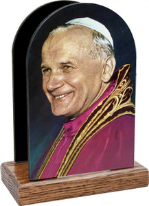 Pope John Paul II Smiling Table Organizer (Vertical)