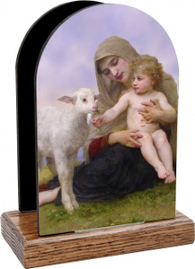 Madonna, Child, and Lamb Table Organizer (Vertical)
