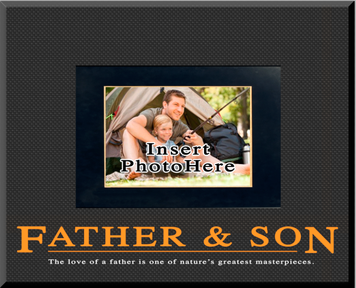 """Father & Son"" Picture Frame"