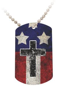USA Cross Dog Tag