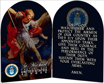 Air Force St. Michael II Arched Diptych