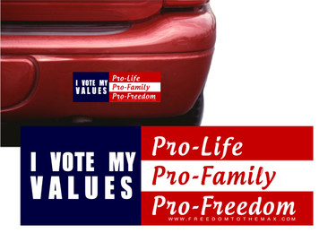 I Vote my Values Bumpersticker