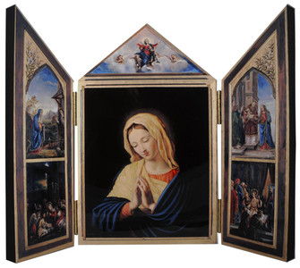 The Virgin, After Sassoferrato Triptych Plaque