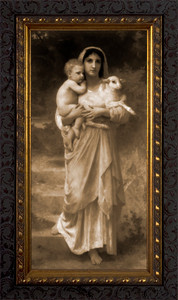 Young Shepherdess (Sepia) Framed Art