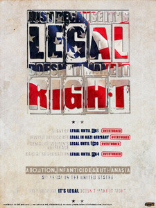 Just Because It's Legal Poster