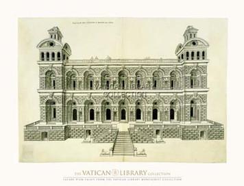 Facade du Palais Paper Print