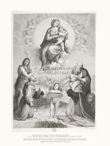 The Madonna di Foligno Paper Print