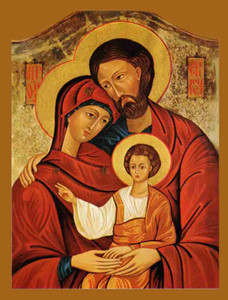 Holy Family Icon Poster Paper Print