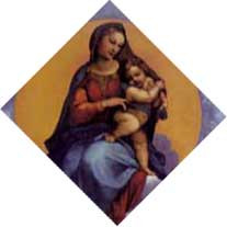 Madonna of Foligno(detail) print