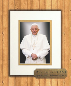 Pope Benedict Formal 8x10 Matted Print with Commemorative Plate