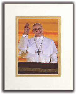 Pope Francis Matted Print