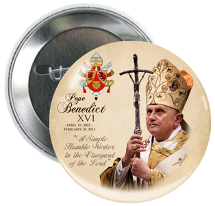 Pope Benedict XVI Commemorative Button