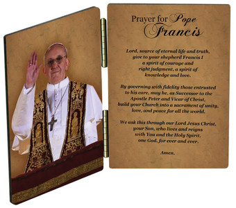 Pope Francis Giving Blessing Diptych