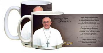 Papa Francisco formal con la taza de Oraci??n