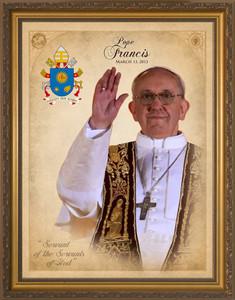 Pope Francis Commemorative Framed Art