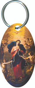 Mary Undoer of Knots Oval Keychain