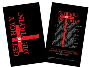 Get Holy or Die Tryin' Holy Card