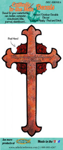 Rose Cross Decal