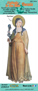St. Clare of Assisi Decal