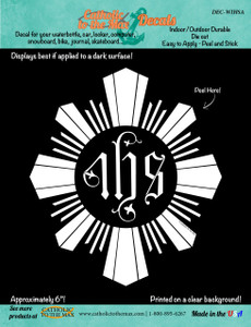 Jesuit IHS Decal