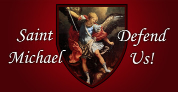 St. Michael (red) Vinyl Bumper Sticker