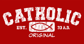 Catholic Original (red) Vinyl Bumper Sticker