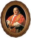 Pope John XXIII Sainthood Formal Canvas in Oval Frame