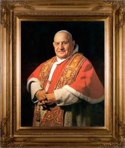 Pope John XXIII Sainthood Portrait: Canvas in Museum Frame
