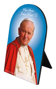 Pope St. John Paul II Arched Desk Plaque