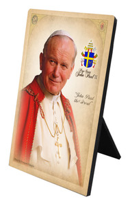 Commemorative Pope John Paul II Desk Plaque