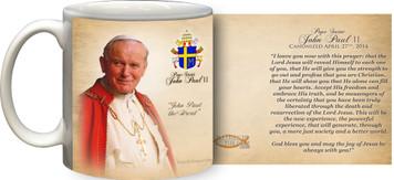 Pope John Paul II Sainthood Portrait Commemorative Quote Mug