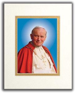 Pope Saint John Paul II Formal Matted Print