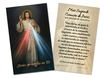 Spanish Divine Mercy Holy Card