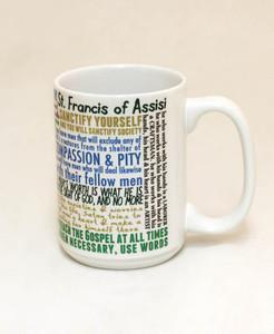 Saint Francis of Assisi Quote Mug