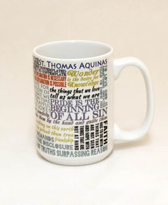 Saint Thomas Aquinas Quote Mug
