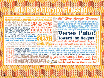 Blessed Pier Giorgio Quote Poster