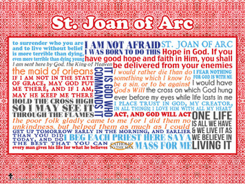 Saint Joan of Arc Quote Poster
