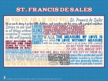Saint Francis de Sales Quote Poster
