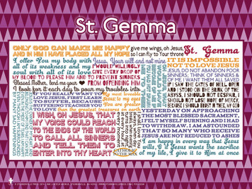 Saint Gemma Quote Poster