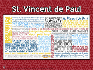 Saint Vincent de Paul Quote Poster