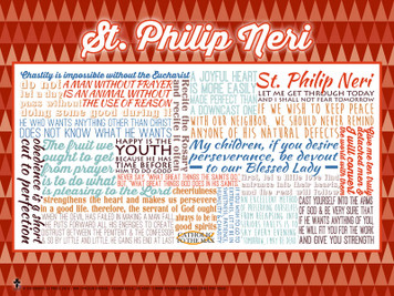 Saint Philip Neri Quote Poster