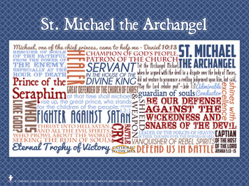 Saint Michael the Archangel Quote Poster