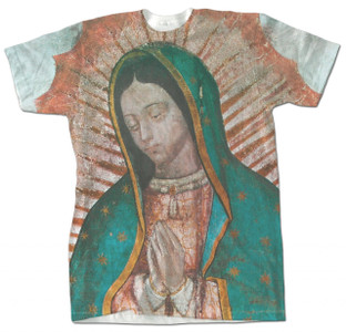 Our Lady of Guadalupe Detail Graphic Poly T Shirt