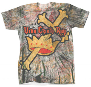 Viva Cristo Rey Graphic Poly T Shirt