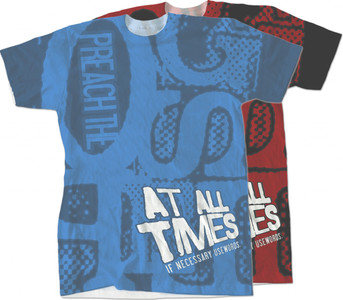 Preach the Gospel Graphic Poly T Shirt