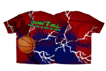 """Doing It All"" Basketball Graphic Poly T Shirt"