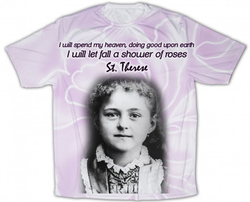St. Therese Graphic Poly T Shirt