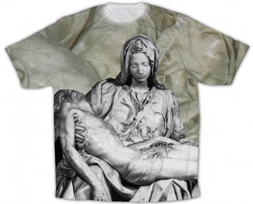 Pieta Graphic Poly T Shirt